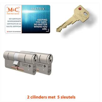 M&C 2 x Matrix Cilinder SKG*** met CERTIFICAAT