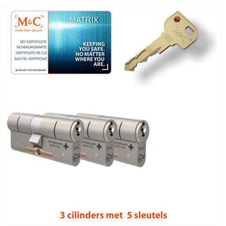 M&C 3 x Matrix Cilinder SKG*** met CERTIFICAAT