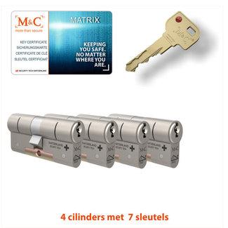 M&C 4 x Matrix Cilinder SKG*** met CERTIFICAAT