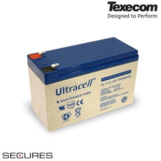 Texecom UL-7-12 Oplaadbare lood accu 12V 7Ah
