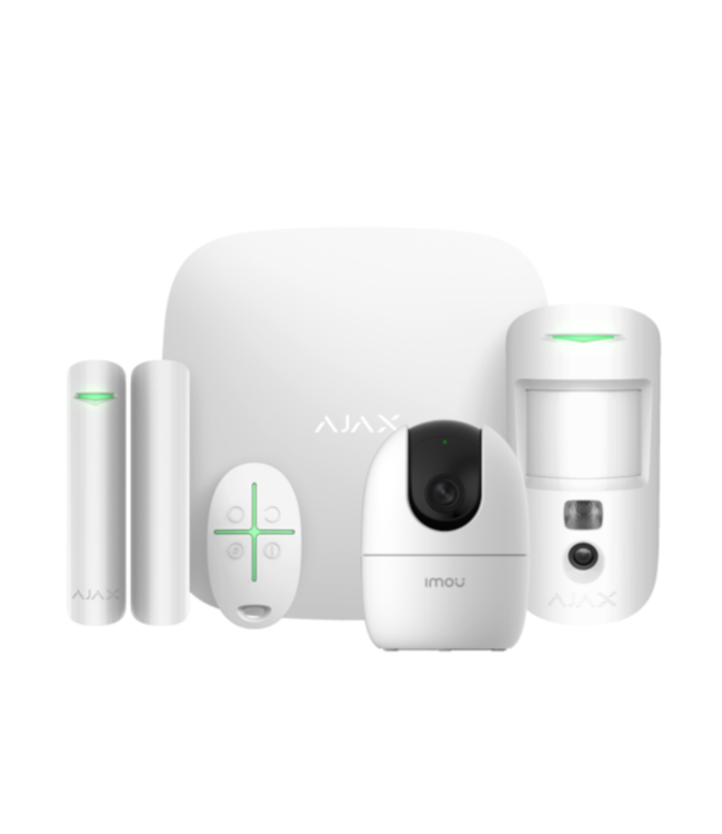 Ajax StarterKit 2 Cam met AI Camera Wit