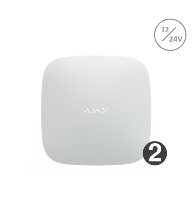 Ajax Hub 2 wit 12/24volt