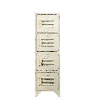 Rootsmann Schließfachschrank 4 Türen | Weiß