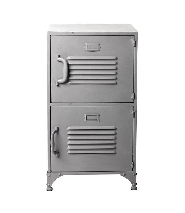 Rootsmann Schließfachschrank 2 Türen | Grau