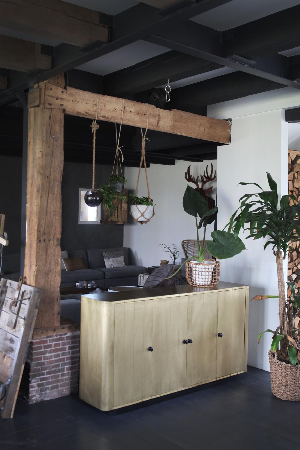 Ein Wohntraum: Holzbalken im Haus