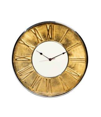 Rootsmann Industrielle goldene Uhr 61cm