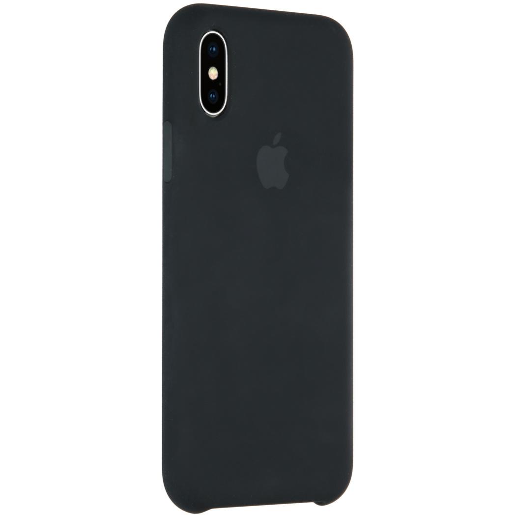 Apple Coque en silicone pour l'iPhone X - Noir