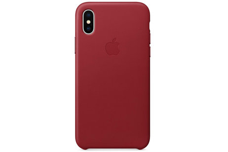 Apple Coque Leather pour l'iPhone Xs / X - Red