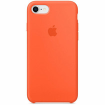 Apple Coque en silicone iPhone SE (2020) / 8 / 7 - Spicy Orange