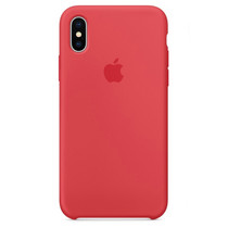 Apple Coque en silicone iPhone X - Red Raspberry