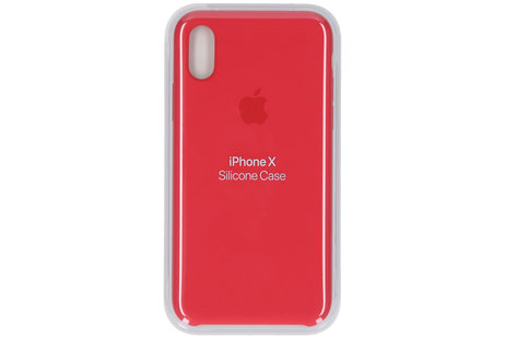 Apple Coque en silicone pour l'iPhone X - Red Raspberry