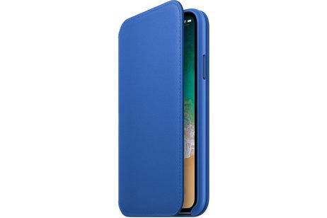 Apple Étui de téléphone portefeuille Leather Folio pour l'iPhone X / Xs - Electric Blue
