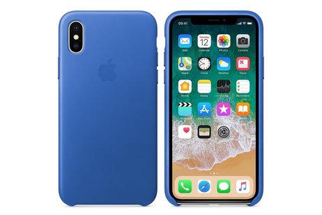 Apple Coque Leather pour l'iPhoneXs / X - Electric Blue