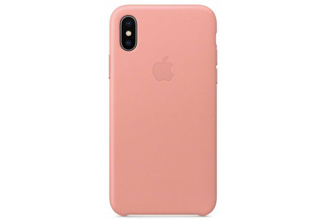 Apple Coque Leather pour l'iPhone Xs / X - Soft Pink