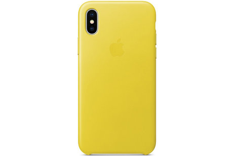 Apple Coque Leather pour l'iPhone Xs / X - Spring Yellow