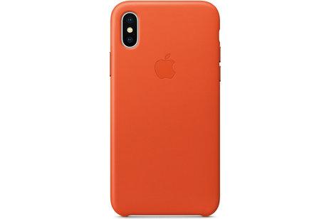 Apple Coque Leather pour l'iPhone Xs / X - Bright Orange