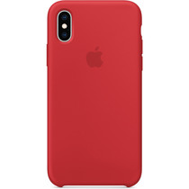 Apple Coque en silicone iPhone Xs - Rouge