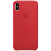 Apple Coque en silicone iPhone Xs Max - Rouge