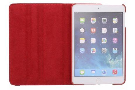 Étui de tablette portefeuille rotatif à 360° pour l'iPad Mini / 2 / 3 - Rouge