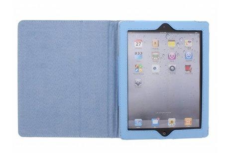 Étui de tablette portefeuille lisse pour l'iPad 2 / 3 / 4 - Bleu clair