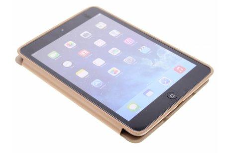 Étui de tablette portefeuille de luxe pour l'iPad Mini / 2 / 3 - Dorée