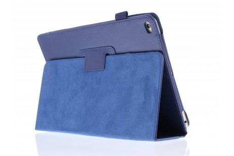 Étui de tablette portefeuille lisse pour l'iPad Air 2 - Bleu foncé