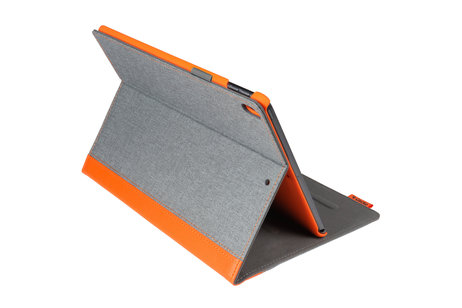 Gecko Covers Étui de tablette portefeuille Easy-Click iPad Pro 10.5 / Air 10.5 - Gris / Orange