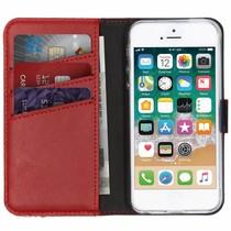 Selencia Étui de téléphone en cuir véritable iPhone SE / 5s / 5