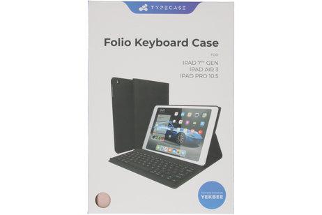 Étui de tablette portefeuille Bluetooth Clavier iPad 10.2 (2019) - Rose Champagne