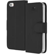 Accezz Étui de téléphone Wallet iPhone SE / 5 / 5s - Noir