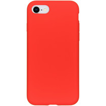 Accezz Coque Liquid Silicone iPhone SE (2020) / 8 / 7 - Rouge
