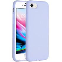 Accezz Coque Liquid Silicone iPhone SE (2020) / 8 / 7 - Violet