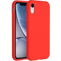 Accezz Coque Liquid Silicone iPhone Xr - Rouge