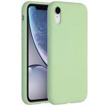 Accezz Coque Liquid Silicone iPhone Xr - Vert