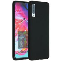 Accezz Coque Liquid Silicone Samsung Galaxy A70 - Noir