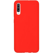 Accezz Coque Liquid Silicone Samsung Galaxy A70 - Rouge