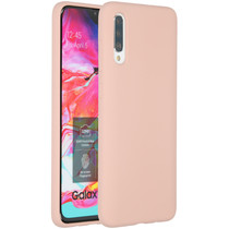 Accezz Coque Liquid Silicone Samsung Galaxy A70 - Rose