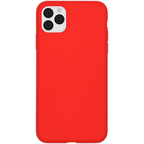 Accezz Coque Liquid Silicone iPhone 11 Pro Max - Rouge