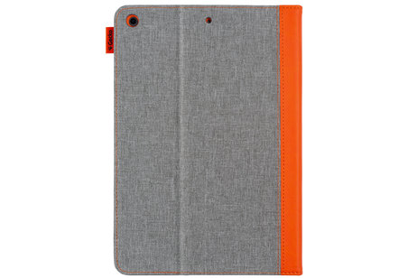 Gecko Covers Étui de tablette portefeuille Easy-Click pour l'iPad 10.2 (2019) - Gris / Orange