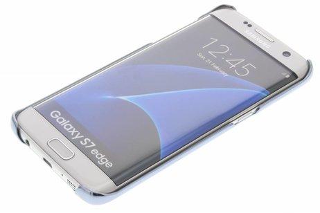 Samsung Coque rigide Clear pour le Galaxy S7 Edge - Bleu foncé