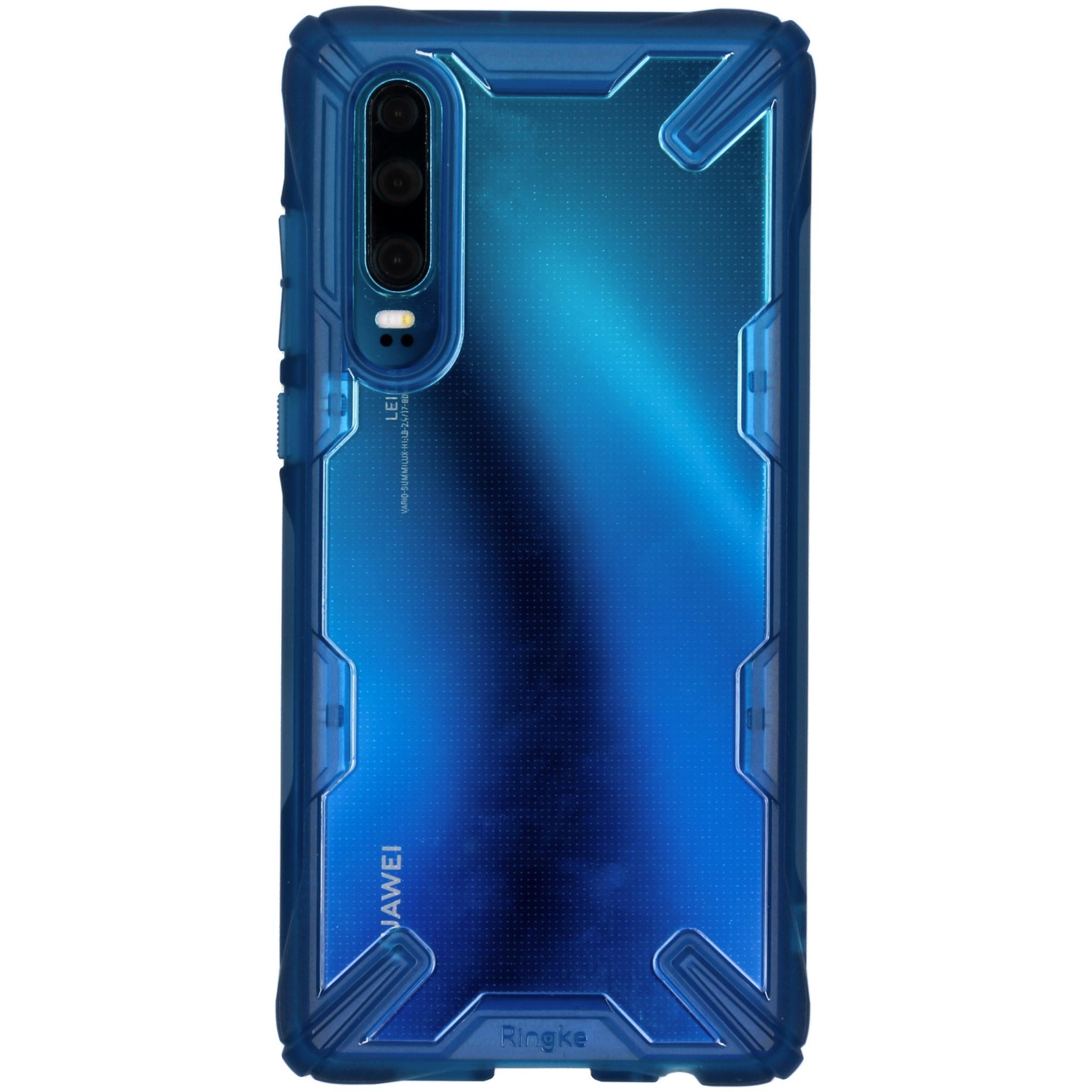 Ringke Coque Fusion X pour l'Huawei P30 - Bleu