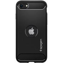 Spigen Coque Rugged Armor iPhone SE (2020) - Noir