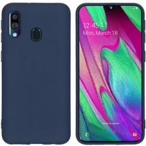 iMoshion Coque Color Samsung Galaxy A40 - Bleu foncé