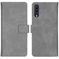 iMoshion Étui de téléphone portefeuille Luxe Galaxy A70 - Gris
