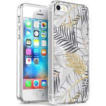 iMoshion Coque Design iPhone 5 / 5s / SE - Feuilles - Noir / Dorée