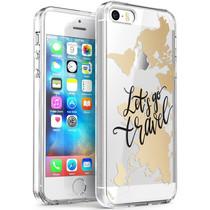 iMoshion Coque Design iPhone 5 / 5s / SE - Let's Go Travel - Noir