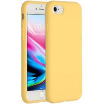 Accezz Coque Liquid Silicone iPhone SE (2020) / 8 / 7 - Jaune