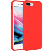 Accezz Coque Liquid Silicone iPhone 8 Plus / 7 Plus - Rouge