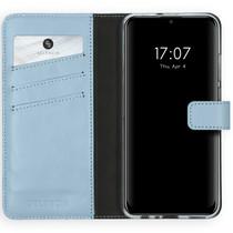 Selencia Étui de téléphone en cuir véritable Huawei P Smart (2020)
