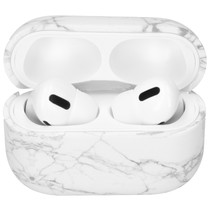 iMoshion Coque hardcover AirPods Pro - Marbre Blanc